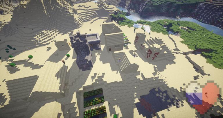 "Сид Майнкрафт ""The Desert Temple Village"""