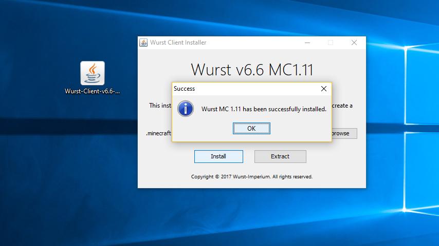 Чит мод Wurst 1.12.2/1.11.2