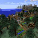 Сид для Майнкрафт PC — «Деревня на берегу»