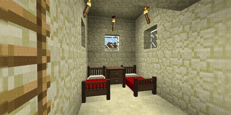Красивые кровати в Майнкрафт