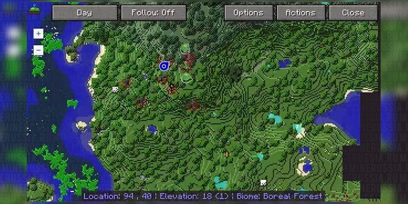 Мини-карта для Майнкрафт 1.12.2