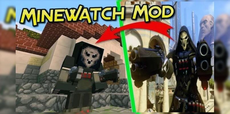 "Мод на Овервотч ""Minewatch"" для Майнкрафт 1.12.2/1.11.2/1.10.2"