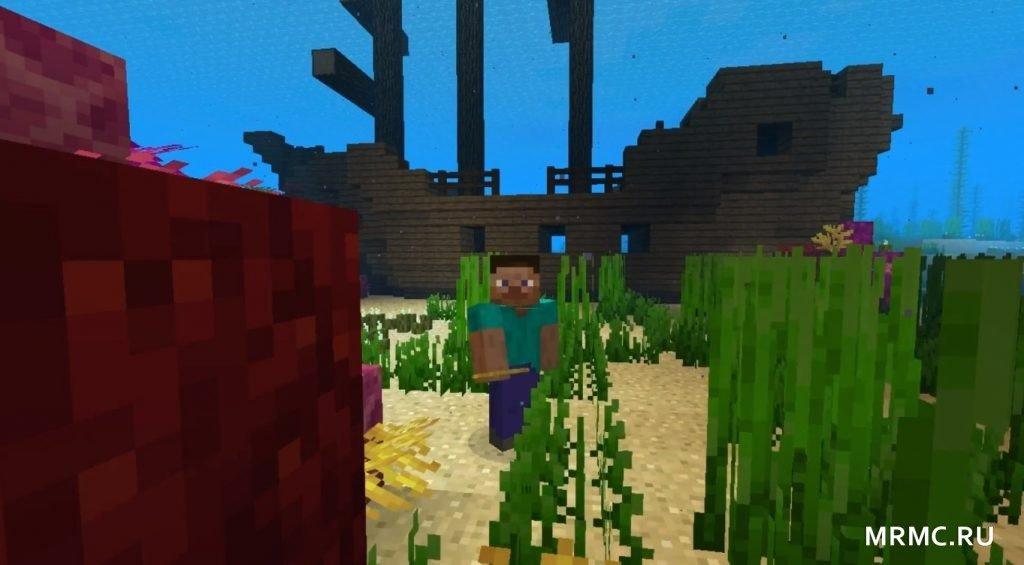 Красивый подводный мир в Майнкрафт 1.13.2