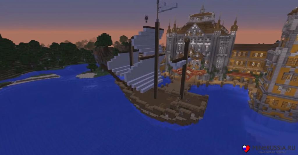 Мод на корабли в Майнкрафт 1.7.10 - Ships
