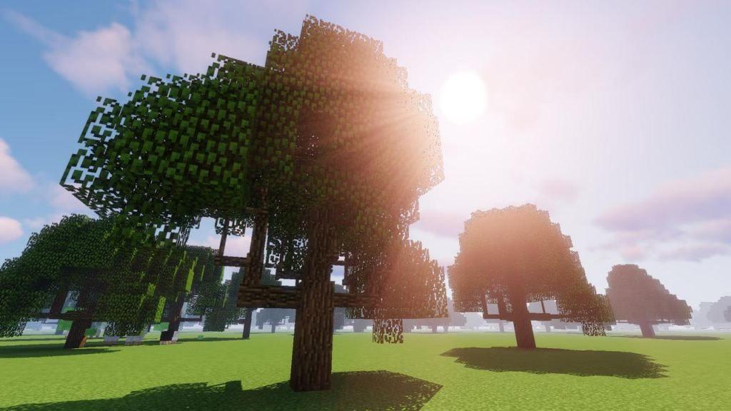 Мод Dynamic Trees для Майнкрафт 1.12.2/1.10.2/1.7.10