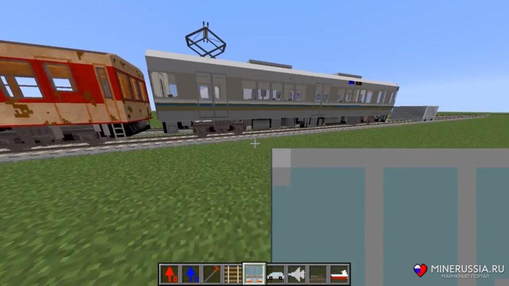 "Мод на реалистичные поезда ""Real Train"" для Майнкрафт 1.12.2"