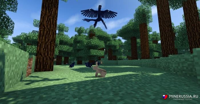 "Мод на динозавров ""JurassiCraft"" для Майнкрафт 1.12.2/1.7.10"