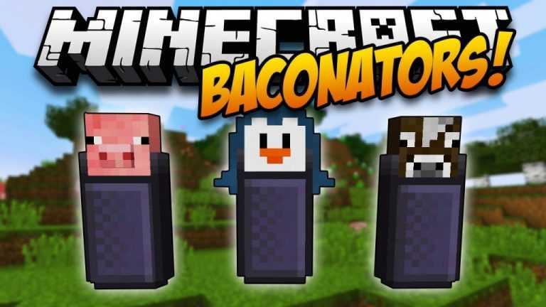 Мод Baconators Для Майнкрафт 1.11.2/1.10.2/1.7.10