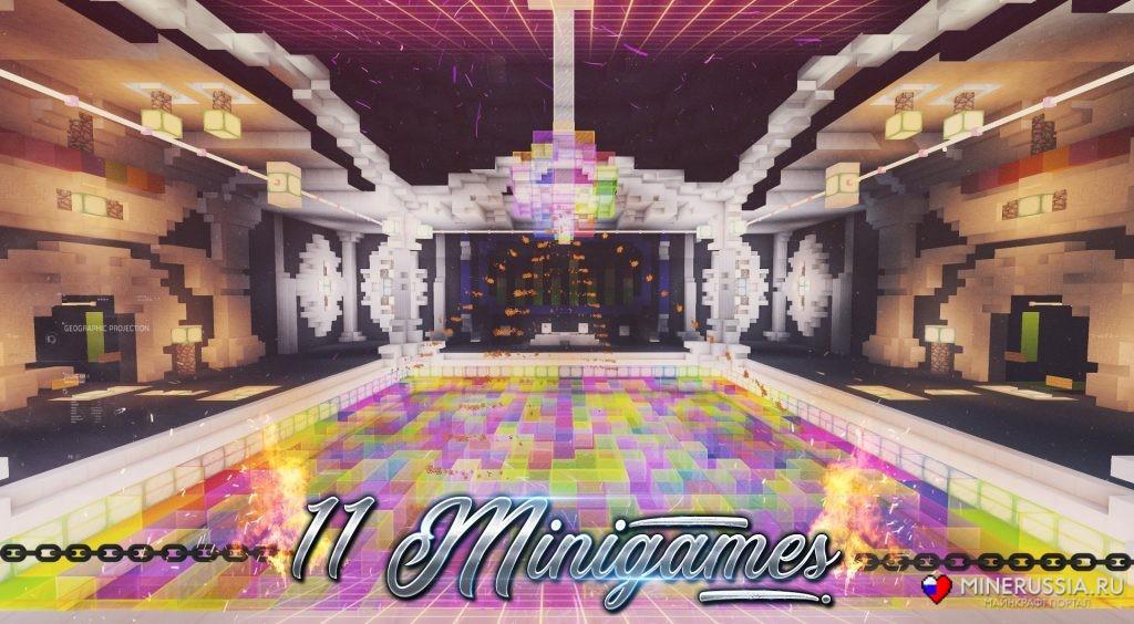 "Карта ""Dance Floor"" для Майнкрафт 1.14/1.13.2"