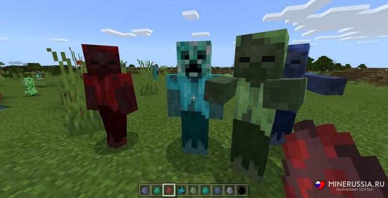Мод More Zombies для Майнкрафт PE 1.11.1