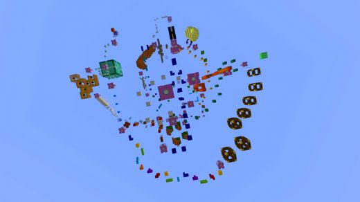 """Паркур карта """"Freaky Parkour"""" для Майнкрафт 1.14"""