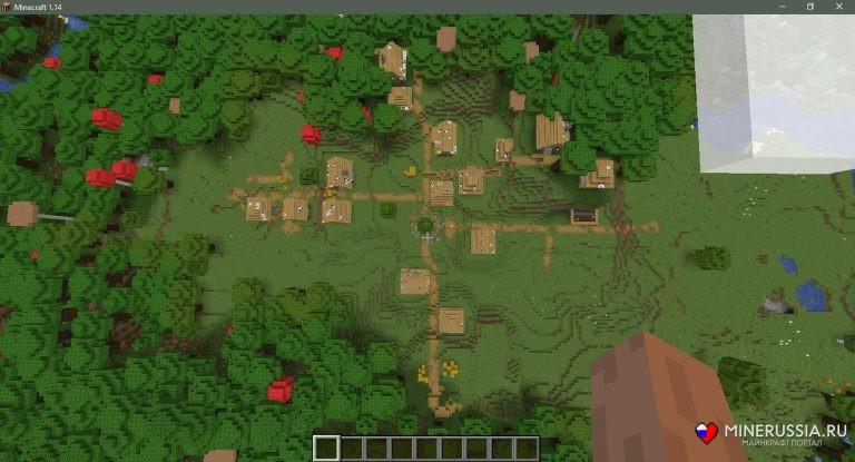Сид на зомби-деревню для Майнкрафт 1.14