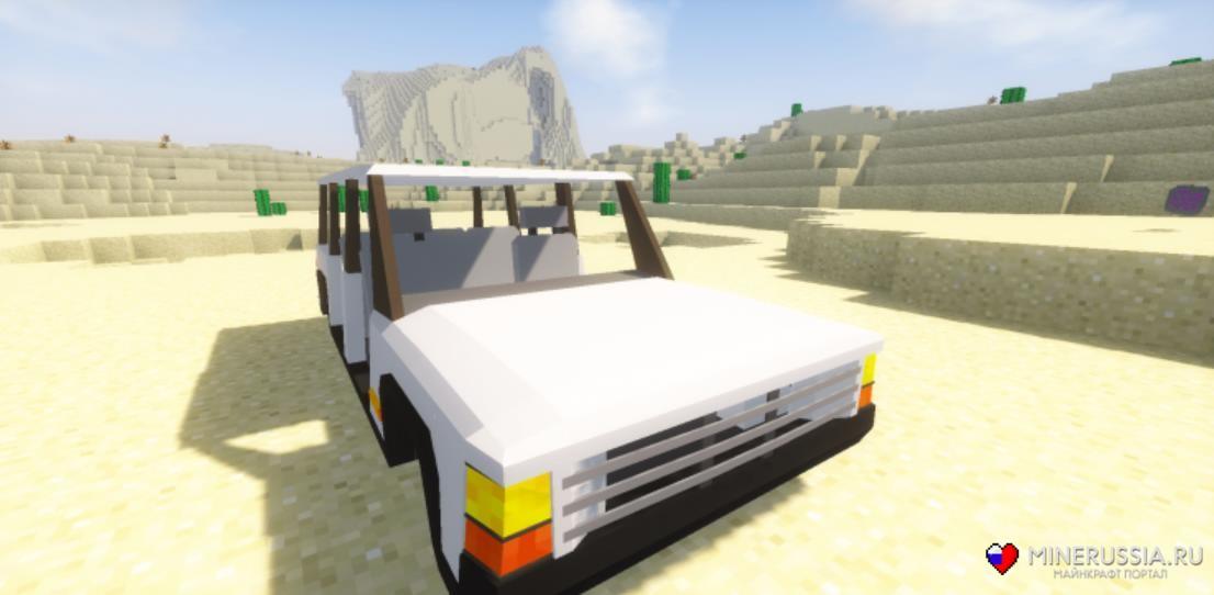 "Мод на реалистичные машины ""Fex's Vehicle"" для Майнкрафт"