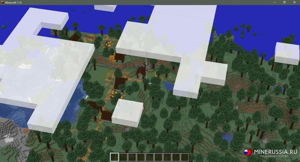 Сид на таёжную деревню в Майнкрафт1.15.1/1.14.4 - скриншот 2