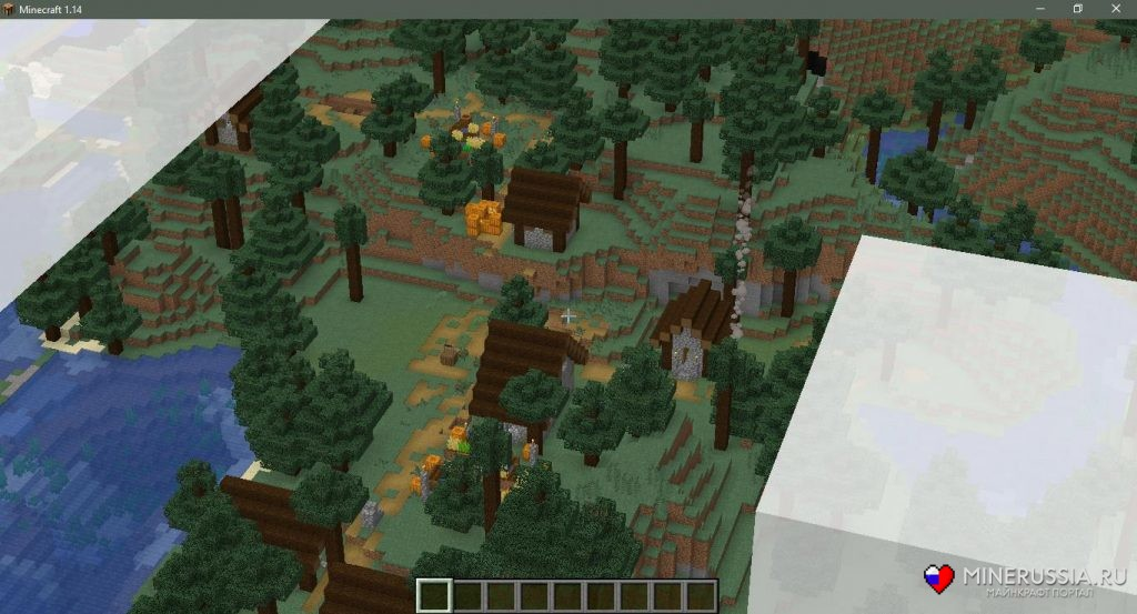 Сид натаёжную деревню вМайнкрафт 1.15.1/1.14.4 - скриншот 3