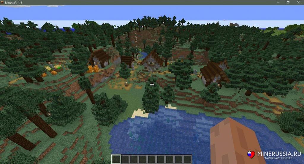 Сид на таёжную деревню в Майнкрафт1.15.1/1.14.4 - скриншот 4