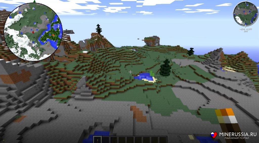 Мод на мини карту на майнкрафт 1 7 10