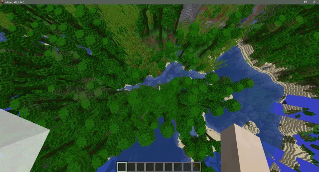 Сид на бамбуковый биом, джунгли и океан в Майнкрафт 1.14.4
