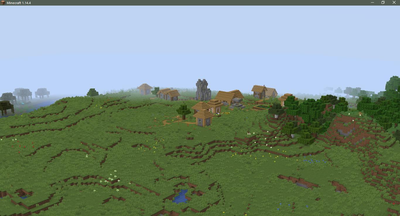 Сид на деревню с церковью - скриншот 2