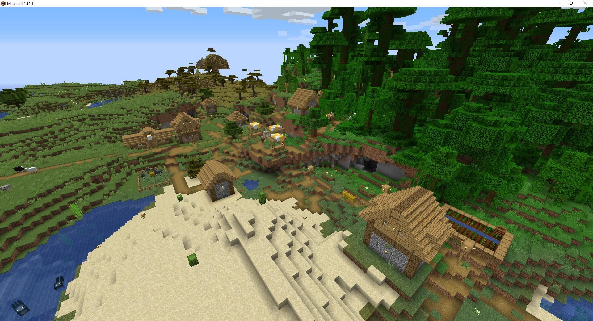 как создать новый мир с деревней в майнкрафте #9