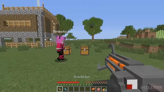 Мод «Gravity Gun» награви-пушку вМайнкрафт - скриншот 2