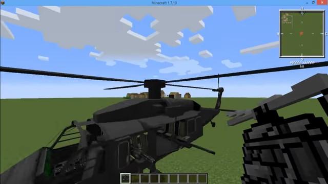 МодMC Helicopter навертолёты вМайнкрафт - скриншот 5