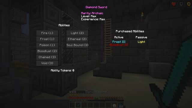 Мод на прокачку оружия «Levels 2» дляМайнкрафт - скриншот 5