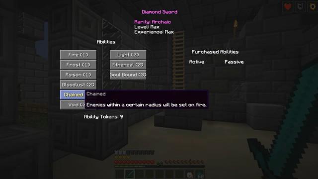Мод на прокачку оружия «Levels 2» дляМайнкрафт - скриншот 4