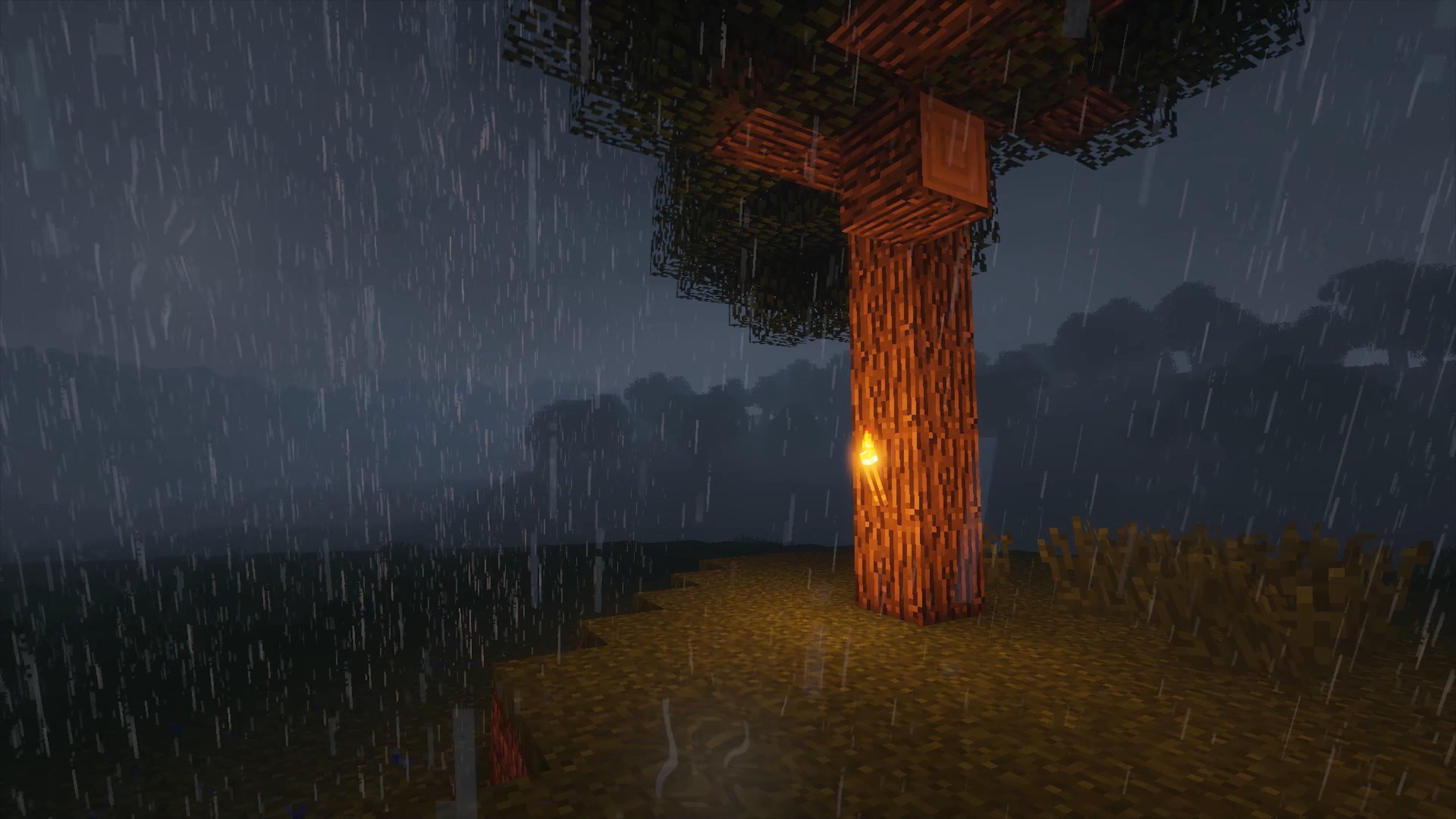 Красивое ночное освещение с шейдерами
