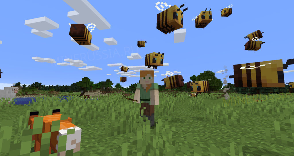 Пчёлы в Майнкрафт 1.15