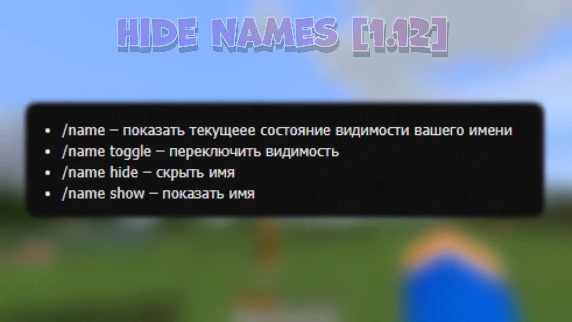 Мод «Hide Names» (Скрытие ника) - скриншот 1
