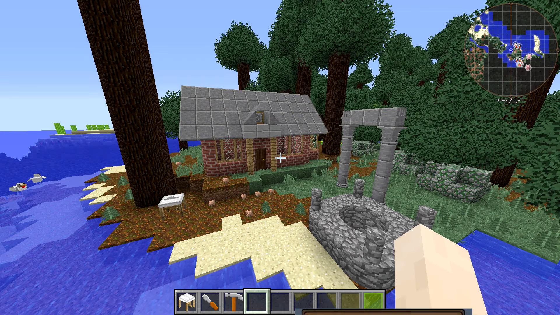 Мод «ArchitectureCraft» (Закруглённые блоки) - скриншот 7