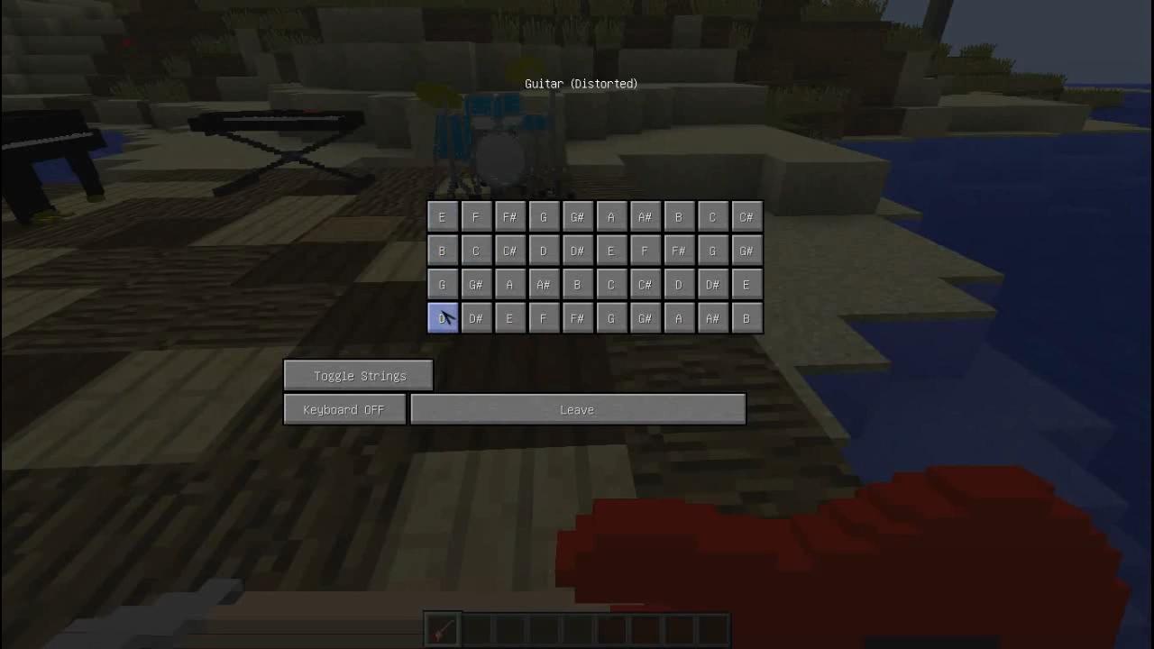 Мод MusicCraft (Музыкальные инструменты) - скриншот 1