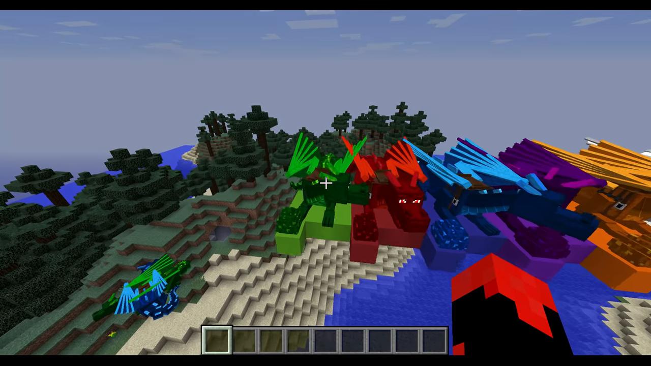 Мод Realm of The Dragons (Приручи дракона) дляМайнкрафт - скриншот 3