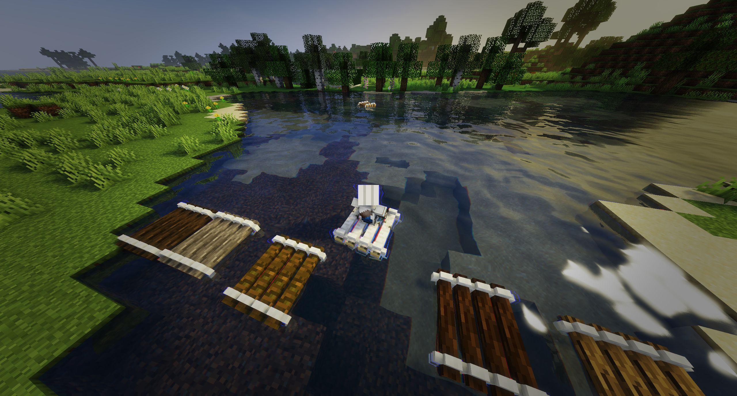 Мод на плот «Just A Raft» (быстрая лодка) - скриншот 1
